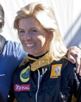 María de Villota con Renault. Foto: Wiki.