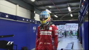 Fernando Alonso luego de finalizar en la quinta posición. Foto: Sky Sports F1.