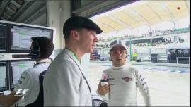 Benedict Cumberbatch con Felipe Massa. Foto: SkySports F1.