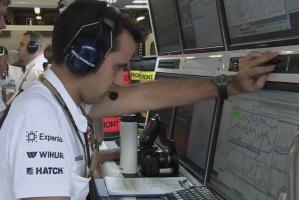 Telemetría del Williams FW36. Foto: Sky Sports F1